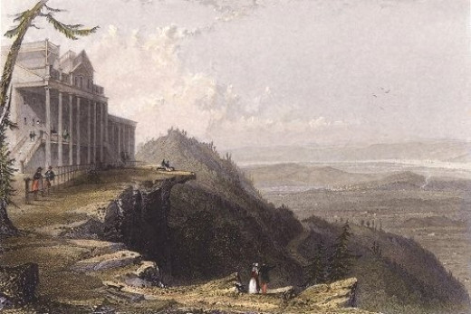 Catskill Mountain House in the Catskill Mountains, 1836 by William Henry Bartlett