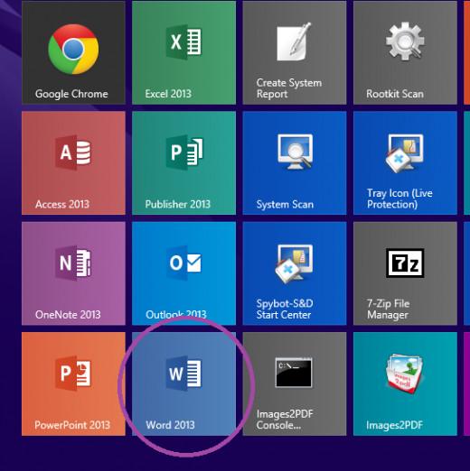 Open Microsoft Word