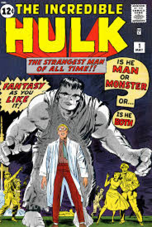 Incredible Hulk # 1 Notice the grey color of the Hulk.