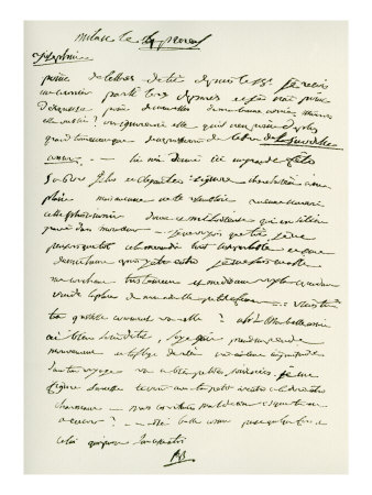 A letter written by Napoleon to Josephine.