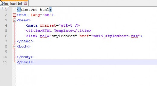 "Now that Notepad++ ""knows"" that it is a HTML  file, color is used, beginning and end section tags are identified."