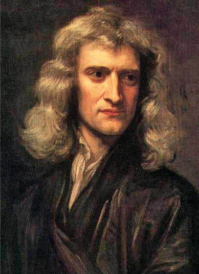 1689 portrait of Sir Isaac Newton