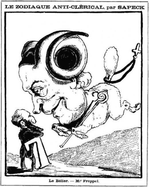 L'Anti-clérical, 1881, by Sapeck