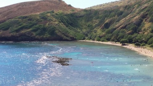 Learn about geology, as well as marine biology, visiting Hanauma Bay in Hawaii
