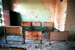While clearly and exaggeration, many dorm facilities are out-dated and not properly maintained.