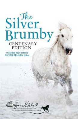 Cover from the HarperCollins Australia Centenary edition of the Silver Brumby which combines the first 4 volumes of the series.