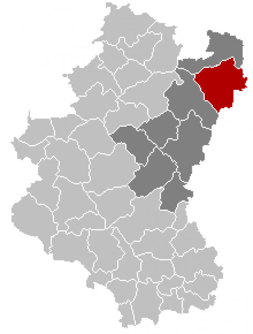 Map location of Gouvy, Province of Luxembourg, Belgium