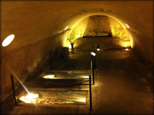 Inside the crypt.