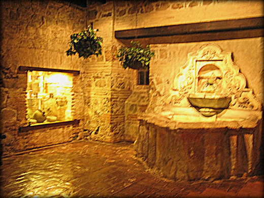 Wishing well inside the monastery