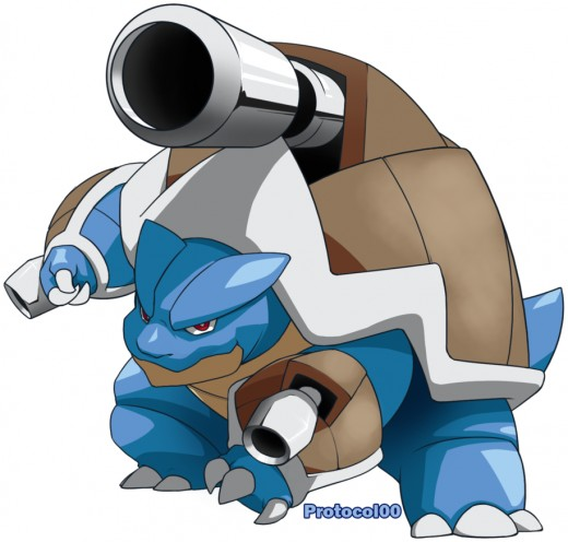 Mega-Blastoise by Protocol00 on deviantart