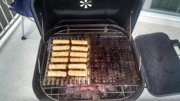 Fish sticks on a BBQ