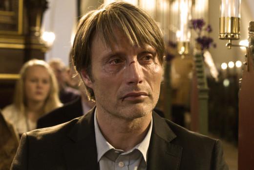 Mads Mikkelsen stars as Lucas in the Danish drama, The Hunt (Jagten)