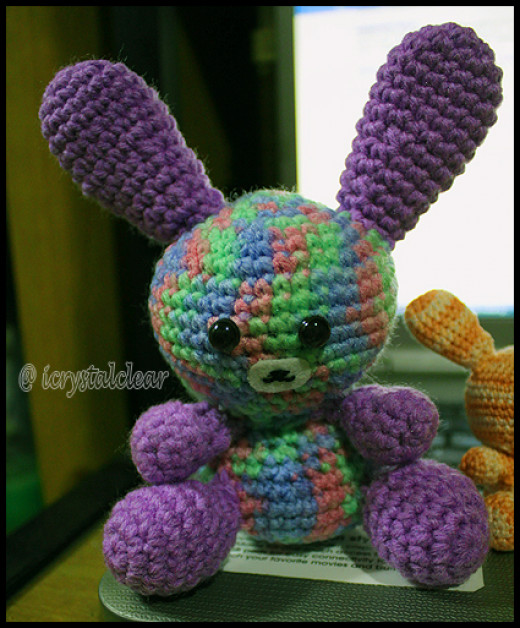 A cute rabbit amigurumi I made for my niece.