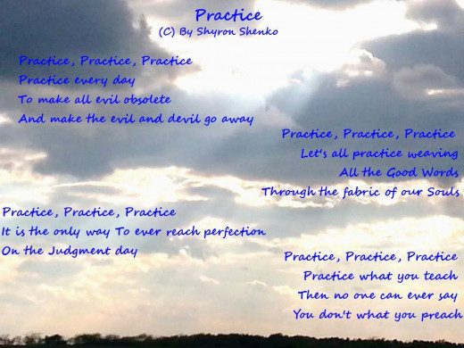 Quotes About Practice What You Preach: The 9th Good Word (Poem