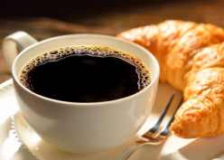 Coffee and a croissant is a good way to start the day