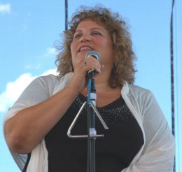 Singing at the state fair.