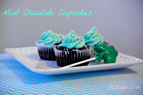 Try out the recipe below for these mint chocolate cupcakes that are the perfect blend of mint and chocolate; a tasty treat for St.Patrick's Day.