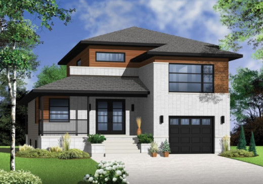 House drawing plans for modest but elegant small home for Porte et fenetre gatineau