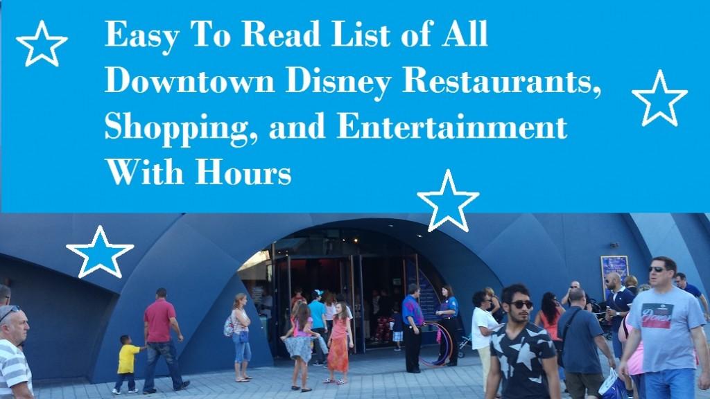 Restaurants In Orlando Near Downtown Disney