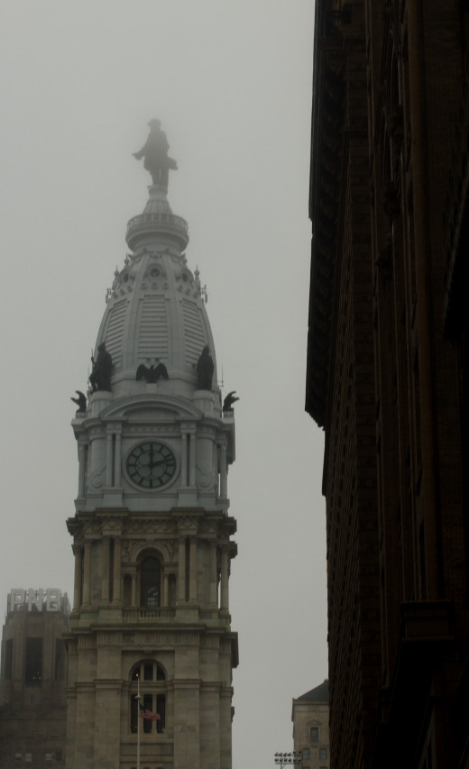 An old clock tower in Philadelphia
