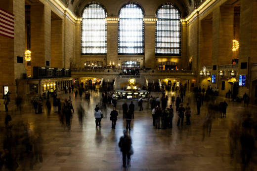 This old train station in the center of NYC was built during the Beaux Arts movement.