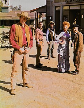 James Arness and cast of Gunsmoke
