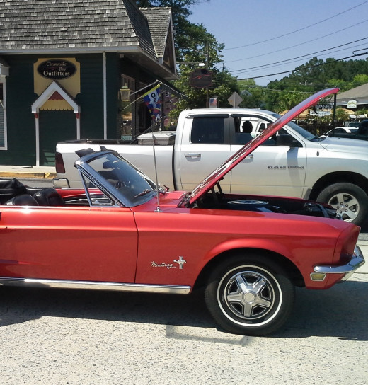 1960s Red Ford Mustang - convertible and manual transmission - 2008 - St. Michael's, Maryland