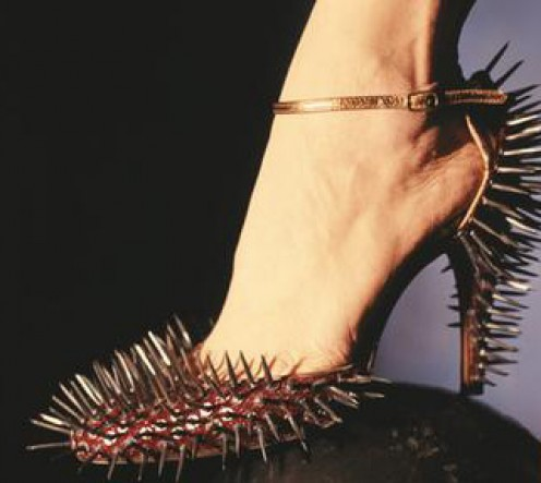 high heel with a spike