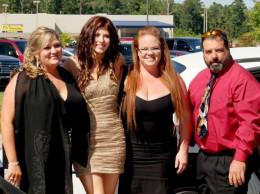 Sonja Nelson, Tera Garnett, Kristina Andrew and Actor and screenwriter, Scarletand Brandon Lofton at the premiere of LIAR.