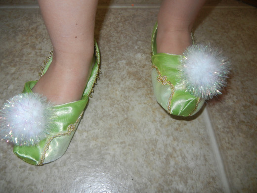 Right down to the Fairy slippers