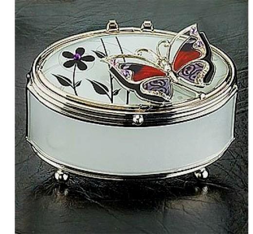 Oval trinket box or jewelry box.