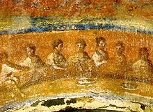 Fractio Panis (Latin: Breaking of Bread) is the name given to a fresco in the Greek Chapel (Capella Greca) in the Catacomb of Priscilla, situated on the Via Salaria Nova in Rome.