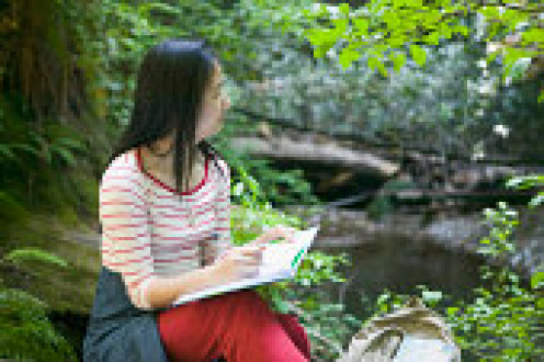 The natural surrounding is peaceful to  think and write.
