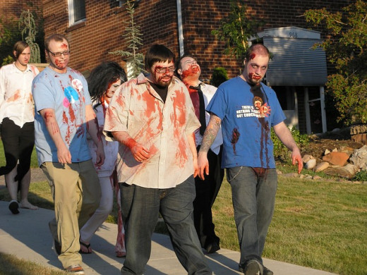 Zombies vs. Humans is a fun game played on college campuses and other places.