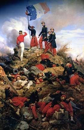 Led by General MacMahon, the French Zouave troops distinguished themselves during the battle of Malakoff on 8 September 1855. The victory brought about the end to the Siege of Sevastopol.