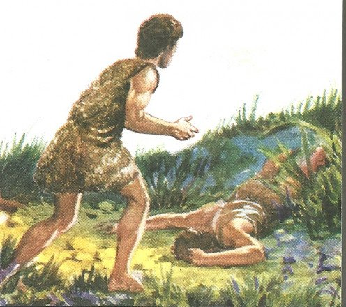 A Photo of Cain as he looks upon his sin involving killing his brother Able out of jealousy.