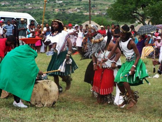 Another picture of Sangoma's dancing.