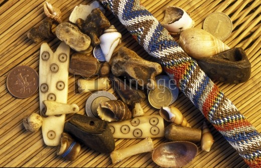 Bones and other divination tools used by Sangoma's.