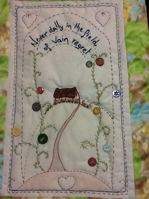 A stitchery created by my wife Kathleen Hansen.