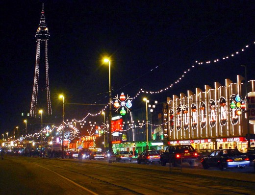The Blackpool Illuminations (pictured) attract visitors from all over the country and traffic is bumper-to-bumper - not the best environment for an escaped little dog.