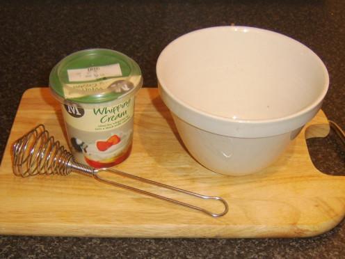 Preparing to whip cream