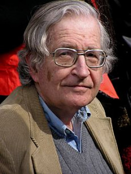 Noam Chomsky, American dissident. Benn liked the idea of being on the same bill as Chomsky. It made him feel that he was in good company.