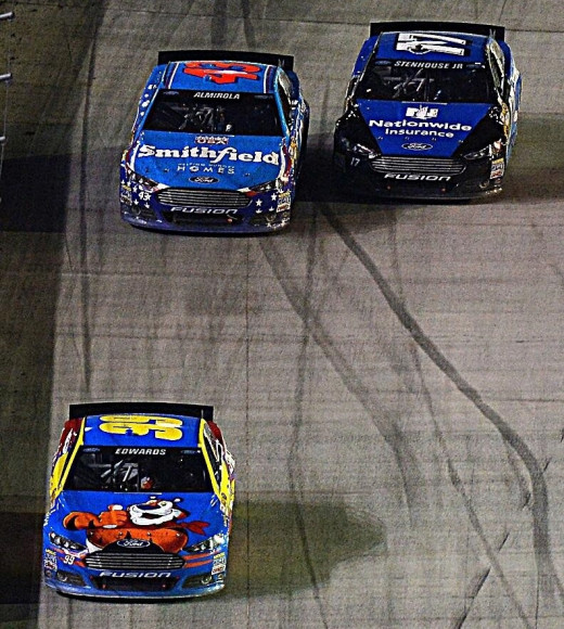 With Edwards leading the way, Ford swept the top three finishing positions at Bristol