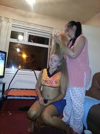 Never say anything to offend mom when she is brushing your hair, she is lethal with a brush.