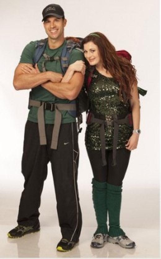 Brendon and Rachel on the Amazing Race 20.