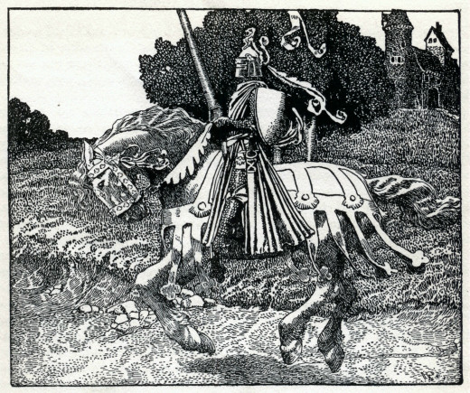 Howard Pyle illustration from the 1903 edition of The Story of King Arthur and His Knights s
