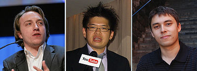 YouTube was founded by Chad Hurley, Steve Chen, and Jawed Karim, who were all early employees of PayPal.[7] Hurley had studied design at Indiana University of Pennsylvania, and Chen and Karim studied computer science together at the University of Ill