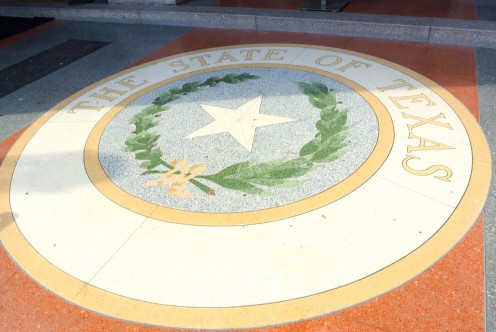 At the entry to the Texas State Capitol Building