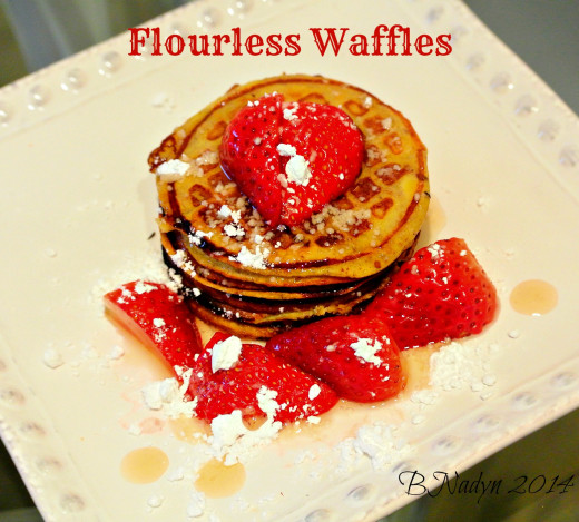 Delicious waffles without using any flour!  Only requires bananas and eggs to create these tasty waffles.
