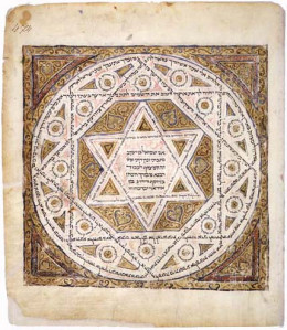 Leningrad Codex cover page E (Folio 474a). A very old manuscript of the Hebrew bible. A former possession of Karaïte Jews. They claim its author was Karaite, a position denied by Rabbinic Jews.